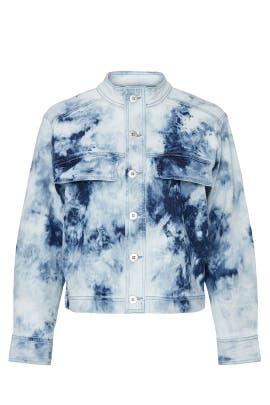 Blue Tie Dye Jacket by Fifteen Twenty