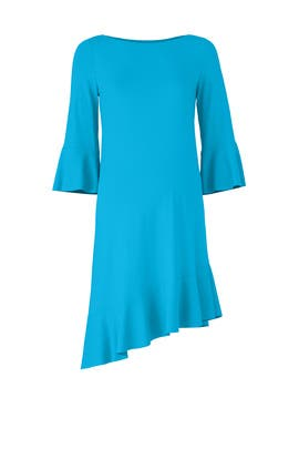 Blue Ruffle Maternity Dress by Susana Monaco