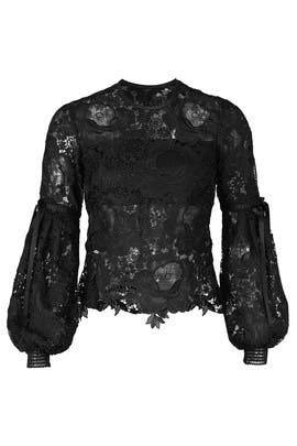Black Elva Lace Top by UnitedWood