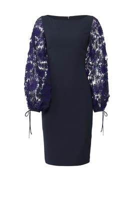 Embroidered Sleeve Dress by Badgley Mischka
