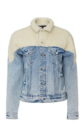 Sherpa Denim Jacket by Jordache