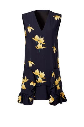 Yellow Floral Ruffle Tunic by Marni