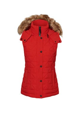 Thea Red Puffer Vest by Marc New York
