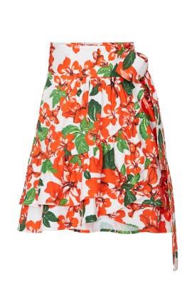 Milos Print Wrap Skirt by Marissa Webb