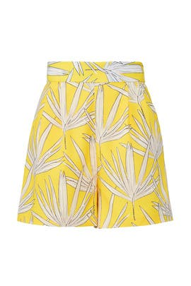 Yellow Leaf Shorts by Hutch