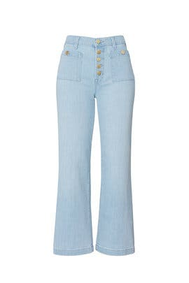 Blue Joan High Rise Crop Jeans by J BRAND