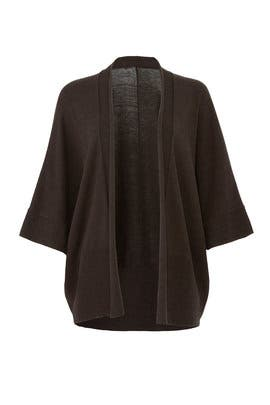 Grey Knit Cardigan by Josie Natori