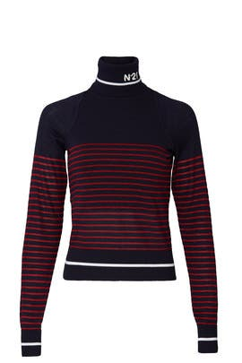 Knit Logo Turtleneck by No. 21