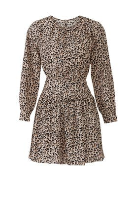 Long Sleeve Leopard Dress by Rebecca Taylor