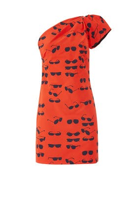 One Shoulder Sunglasses Dress by Victoria Victoria Beckham