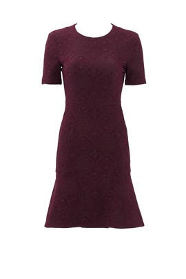 Brush of Burgundy Dress by Cut 25