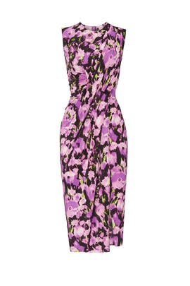 Printed Draped Jersey Dress by Jason Wu Collection