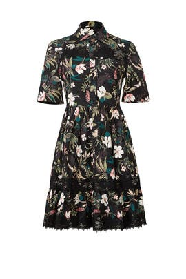 Black Botanical Dress by kate spade new york