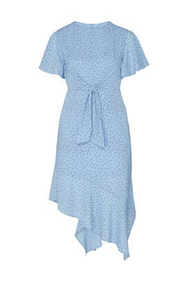 Polka Dot Tie Front Dress by LOST INK