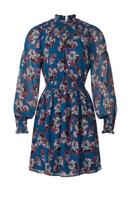 Floral Pop Art Smocked Dress by Peter Som Collective