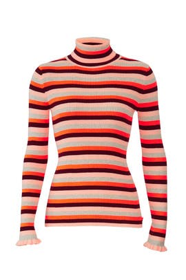 Striped Knit Turtleneck by Scotch & Soda