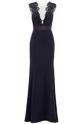 Deep Midnight Gown by Theia