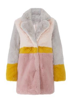 Lisa Faux Fur Coat by Apparis