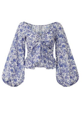 Blue Onira Top by CAROLINE CONSTAS