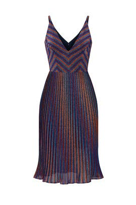 Hayley Metallic Cobalt Dress by Dress The Population