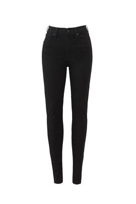 Black Mile High Super Skinny Jeans by Levi's