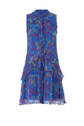 Blue Tilly Ruffle Shirt Dress by SALONI