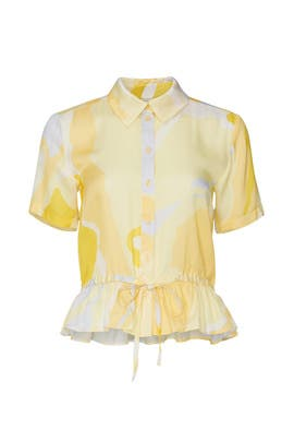 Yellow Makayla Top by STINE GOYA
