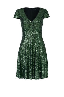 Emerald Natasha Dress by Badgley Mischka