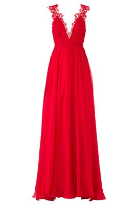 Red Lova Gown by CATHERINE DEANE