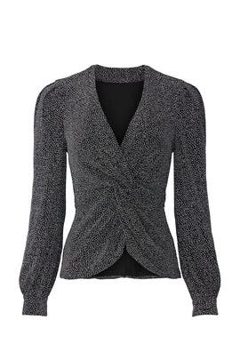 Twist Front Glitter Top by Jonathan Simkhai