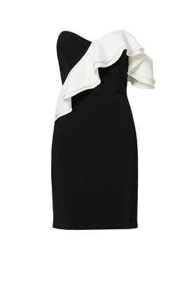 Black and White Ruffle Sheath by Parker