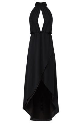 Black Halter Maxi by Saylor
