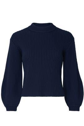Slit Neck Pullover by Tibi