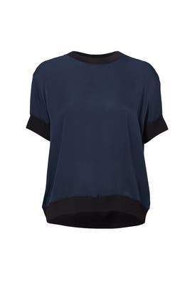 Contrast Rib Trimmed Top by VINCE.