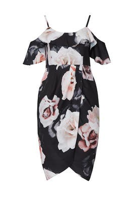 Floral Off The Shoulder Dress by City Chic
