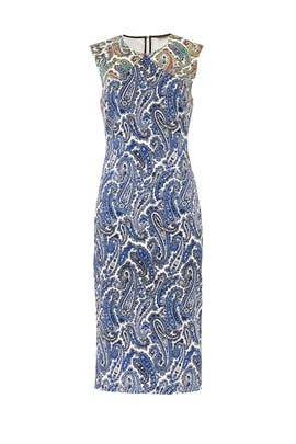 Paisley Sleeveless Sheath by Diane von Furstenberg
