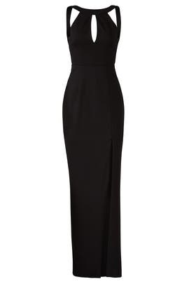 Sleek Ponti Split Gown by Nicholas