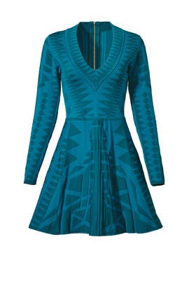 Teal Napa Knit Dress by Parker