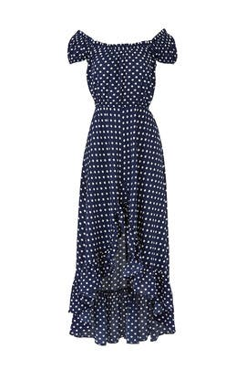 Navy Polka Dot Maxi By Slate Willow