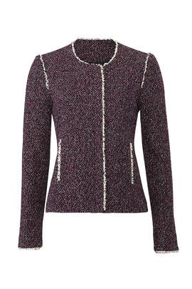 Burgundy Tweed Jacket by Slate & Willow