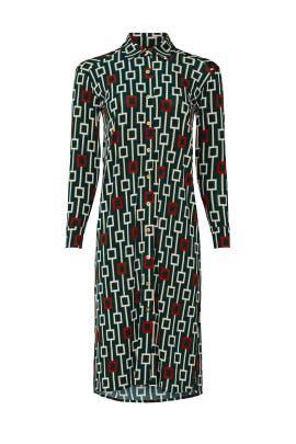 Button Down Geo Dress by Alexia Admor