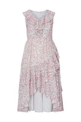 Floral Asymmetric Midi Dress by ELOQUII