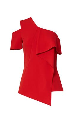 Red Ruffle Top by Jason Wu Collection
