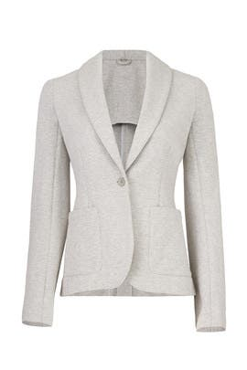 Grey Knit Blazer by KINLY