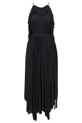 Black Pleated Ruffle Dress by Philosophy di Lorenzo Serafini