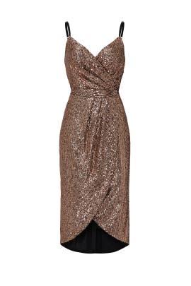 Gold Sequin Midi Dress by Rachel Rachel Roy