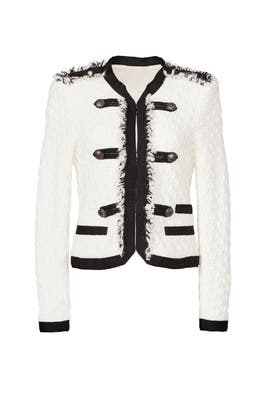 White Lana Tweed Jacket by Rebecca Taylor