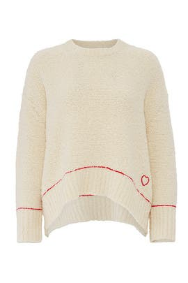 Off White Oversized Sweater by Sundry