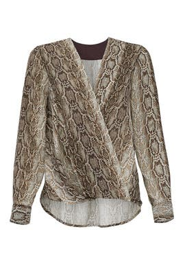 Python Faux Wrap Blouse by Slate & Willow