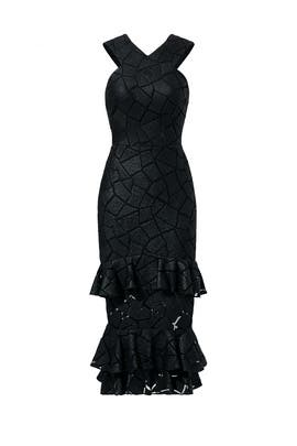Black Diamond Flounce Dress by Christian Siriano